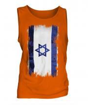 Israel Grunge Flag Mens Vest