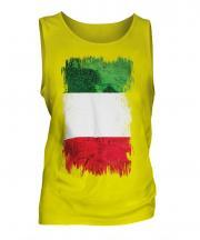Italy Grunge Flag Mens Vest