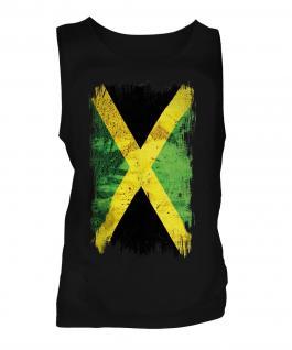 Jamaica Grunge Flag Mens Vest