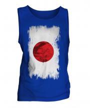 Japan Grunge Flag Mens Vest