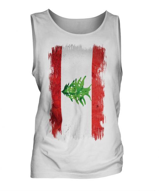Lebanon Grunge Flag Mens Vest
