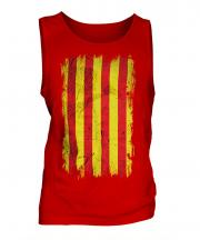 Catalonia Grunge Flag Mens Vest
