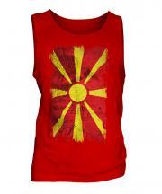 Macedonia Grunge Flag Mens Vest