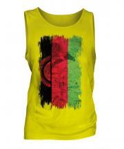 Malawi Grunge Flag Mens Vest
