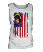 Malaysia Grunge Flag Mens Vest