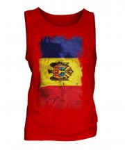 Moldova Grunge Flag Mens Vest