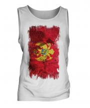 Montenegro Grunge Flag Mens Vest