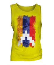 Nagorno-Karabakh Republic Grunge Flag Mens Vest