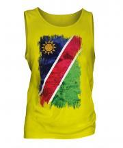 Namibia Grunge Flag Mens Vest