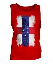Netherlands Antilles Grunge Flag Mens Vest