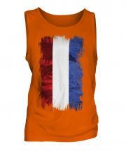 Netherlands Grunge Flag Mens Vest