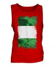 Nigeria Grunge Flag Mens Vest
