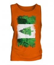 Norfolk Island Grunge Flag Mens Vest