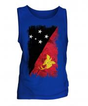 Papua New Guinea Grunge Flag Mens Vest