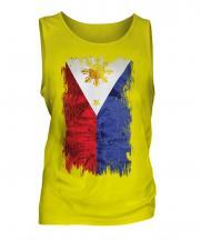 Philippines Grunge Flag Mens Vest