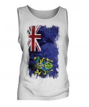 Pitcairn Islands Grunge Flag Mens Vest