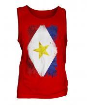 Saba Grunge Flag Mens Vest