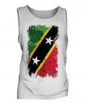 Saint Kitts And Nevis Grunge Flag Mens Vest