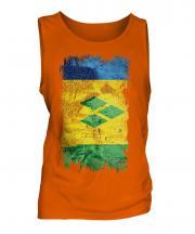 Saint Vincents And The Grenadines Grunge Flag Mens Vest