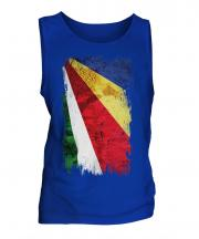 Seychelles Grunge Flag Mens Vest