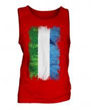 Sierra Leone Grunge Flag Mens Vest