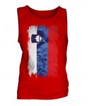 Slovenia Grunge Flag Mens Vest
