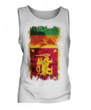 Sri Lanka Grunge Flag Mens Vest