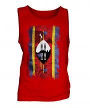 Swaziland Grunge Flag Mens Vest
