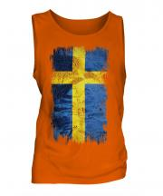 Sweden Grunge Flag Mens Vest