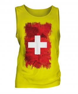 Switzerland Grunge Flag Mens Vest