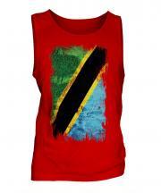 Tanzania Grunge Flag Mens Vest