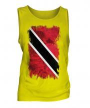 Trinidad And Tobago Grunge Flag Mens Vest