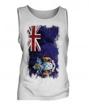 Tristan Da Cunha Grunge Flag Mens Vest