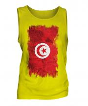 Tunisia Grunge Flag Mens Vest