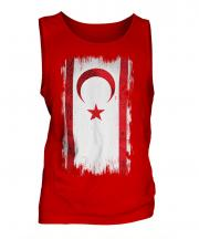 Turkish Republic Of Northern Cyprus Grunge Flag Mens Vest