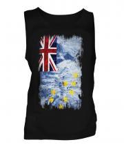 Tuvalu Grunge Flag Mens Vest