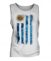 Uruguay Grunge Flag Mens Vest