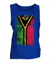 Vanuatu Grunge Flag Mens Vest
