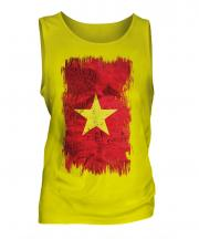 Vietnam Grunge Flag Mens Vest