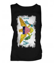 Us Virgin Islands Grunge Flag Mens Vest
