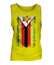 Zimbabwe Grunge Flag Mens Vest