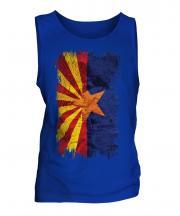 Arizona State Grunge Flag Mens Vest