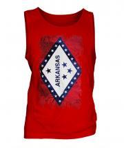 Arkansas State Grunge Flag Mens Vest