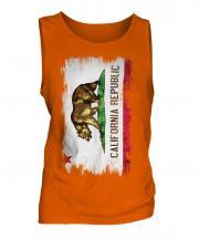 California State Grunge Flag Mens Vest