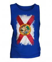Florida State Grunge Flag Mens Vest