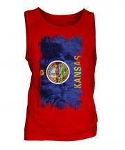 Kansas State Grunge Flag Mens Vest