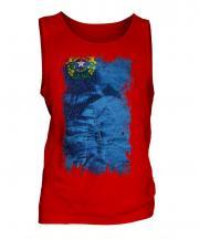 Nevada State Grunge Flag Mens Vest