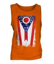Ohio State Grunge Flag Mens Vest