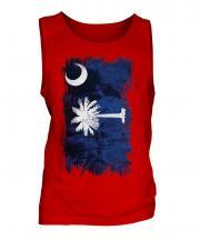 South Carolina State Grunge Flag Mens Vest