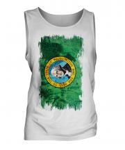 Washington State Grunge Flag Mens Vest